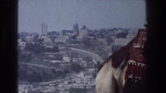 1976: viewing a city from top of the sky, vintage clip Stock Footage