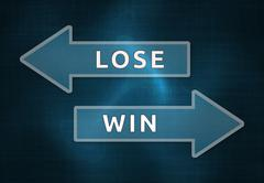 You must choose one: The lose, or the win Stock Illustration