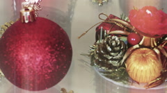 New Year and Christmas Decoration Stock Footage