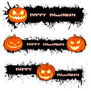 Pumpkin from Halloween and blots Stock Illustration