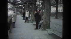 1976: visitors getting ready to board the bus. ZURICH SWITZERLAND Stock Footage