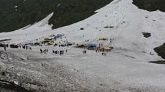 Icy mountain on Kargil-Leh highway Stock Footage