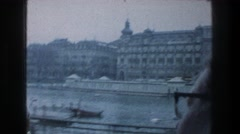 1976: sightseeing beautiful, monumental buildings. ZURICH SWITZERLAND Stock Footage