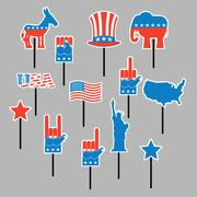 Foam sign president Election of America. Set photo props for photo shoots. El Stock Illustration