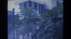 1976: guard protecting the building. ATHENS GREECE Stock Footage