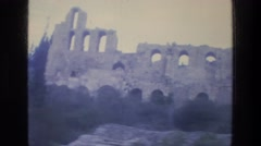 1976: ancient ruins in greece of parthenon and temples. ATHENS GREECE Stock Footage