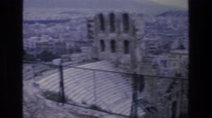 1976: old stone village with metal fence around it ATHENS GREECE Stock Footage