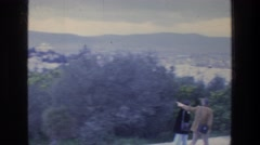 1976: tourists out walking in nature. ATHENS GREECE Stock Footage