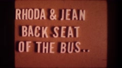 1976: rhoda & jean back seat of the bus BETHLEHEM ISRAEL Stock Footage