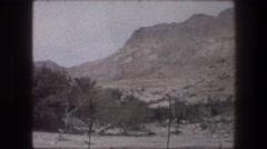 1976: desert landscape on a sunny day. BETHLEHEM ISRAEL Stock Footage