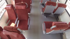 HD - Chairs in a train carriage Stock Footage