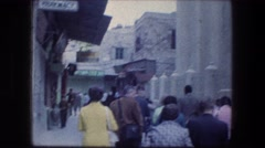1976: a busy street within a walled city GARDEN TOMB JERUSALEM ISRAEL Stock Footage