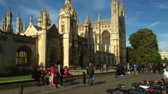 King's College gate tower and chapel Cambridge. Stock Footage