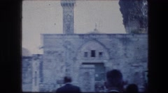 1976: beautiful view of a stonewall building. GARDEN TOMB JERUSALEM ISRAEL Stock Footage