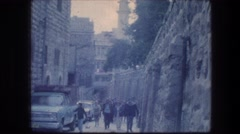 1976: general view of a tourist area with old buildings including  Stock Footage