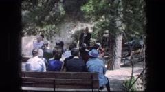 1976: i people get together GARDEN TOMB JERUSALEM ISRAEL Stock Footage