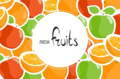 Background of apples and oranges Stock Illustration