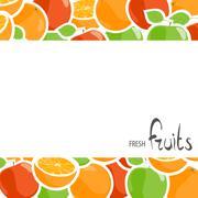 Oranges and apples design Stock Illustration