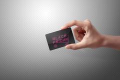 Black Friday text on a black card Kuvituskuvat