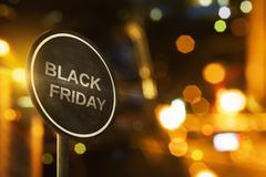 Black Friday sign with blur lighting Stock Illustration