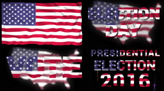 United States of America election collection Stock Footage