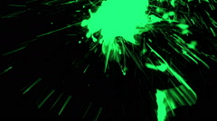 Vibrant Paint Splash On A Shaky Camera - 35 Stock Footage