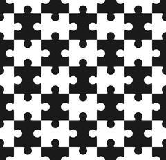 Jigsaw puzzle seamless Stock Illustration