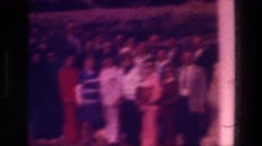 1976: bunch of people posing for a shoot picture on frame TABGHA ISRAEL Stock Footage