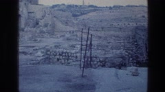 1976: archaeological dig near the city walls of jerusalem. WAILING WALL Stock Footage