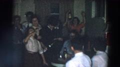 1957: family socializing together. WHEELING OHIO Stock Footage