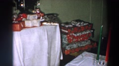 1957: decorated tree and gifts ready for celebrating. WHEELING OHIO Stock Footage