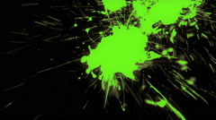 Vibrant Paint Splash On A Shaky Camera - 85 Stock Footage