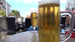 Beer fizz in Cafe Stock Footage