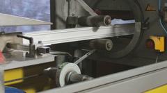 Plastic windows factory Stock Footage