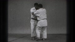 1971: a karate match getting ready to take place. TOKYO JAPAN Stock Footage