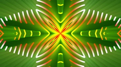 Green abstract background, fractal light, loop Stock Footage