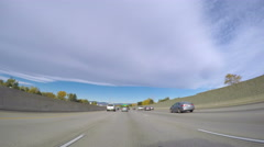 POV point of view - Driving on I25 highway. Stock Footage