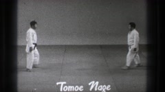 1971: two men demonstrate judo moves TOKYO JAPAN Stock Footage