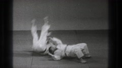 1971: karate kids TOKYO JAPAN Stock Footage