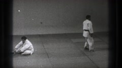 1971: a karate demonstration. TOKYO JAPAN Stock Footage
