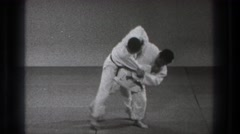 1971: a karate match in action. TOKYO JAPAN Stock Footage