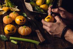 Preparation for Halloween Stock Photos