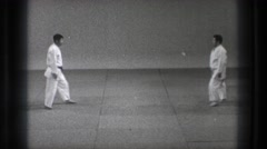 1971: two men demonstrate a karate technique TOKYO JAPAN Stock Footage