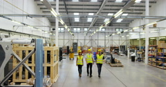 4k, People working inside a printing, packaging and distribution factory Stock Footage