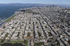 Aerial View of the Marina District in San Francisco California Kuvituskuvat