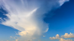 Beautiful Time Lapse Clouds Floating On Blue Sky Stock Footage
