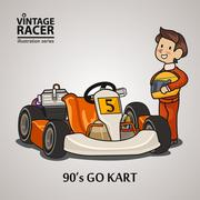 Race Car Driver Piirros