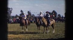 1957: riding horses WHEELING OHIO Stock Footage