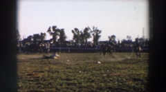 1957: horses goes crazy during practice. WHEELING OHIO Stock Footage