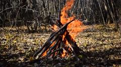 Bonfire Teepee Stock Footage
